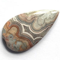 cabochon agate mexicaine crazy lace N
