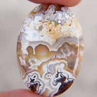 cabochon agate mexicaine crazy lace O
