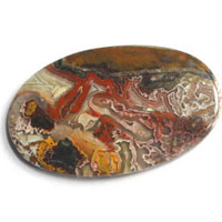 cabochon agate mexicaine crazy lace S